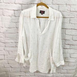 For Cynthia Beachwear Woman Plus Size 2X linen dot